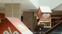Sale sign on the cube Stock Footage