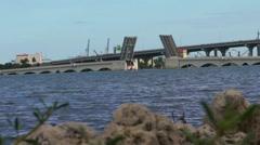 Venetian Bridge is Closed in Miami 2015 Stock Footage
