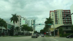 Drive on Biscayne Blvd 2015 in Miami Midtown Stock Footage