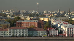 St. Petersburg. The Neva river embankment. City mansions. Stock Footage