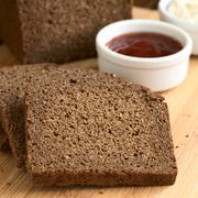 Pumpernickel Dark Rye Bread - stock photo