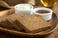 Stock Photo of Pumpernickel Dark Rye Bread