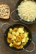 Chicken and Dried Apricot Stew with Couscous - stock photo