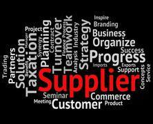 Supplier Word Shows Retailers Words And Trade - stock illustration