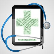 Swollen Lymph Nodes Indicates Poor Health And Affliction Stock Illustration