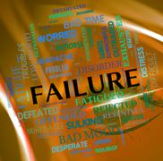 Failure Word Indicates Lack Of Success And Defeat - stock illustration
