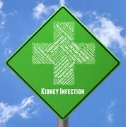 Kidney Infection Indicates Ill Health And Advertisement Stock Illustration