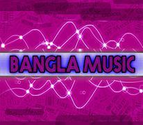 Bangla Music Indicates Bangladesh Song And Audio Stock Illustration