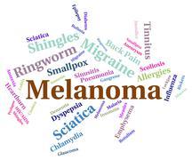 Melanoma Illness Indicates Carcinogenic Sickness And Infection Stock Illustration