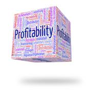 Profitability Word Means Bottom Line And Financial - stock illustration