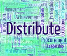 Stock Illustration of Distribute Word Represents Supply Chain And Delivery