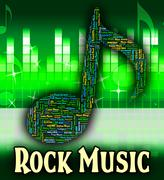 Stock Illustration of Rock Music Shows Sound Track And Harmony