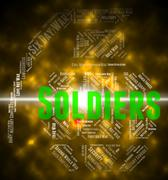 Soldiers Word Shows Comrade In Arms And Gi - stock illustration
