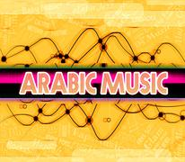 Arabic Music Indicates Middle East And Arabian Piirros