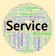 Stock Illustration of Service Word Means Help Desk And Advice