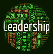 Stock Illustration of Leadership Word Indicates Control Guidance And Text