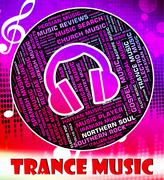 Trance Music Indicates Sound Tracks And Chill Stock Illustration