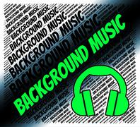Background Music Represents Sound Track And Harmonies Piirros