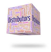 Stock Illustration of Distributors Word Means Supply Chain And Distribute