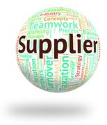 Supplier Word Means Trader Distribute And Retailer - stock illustration