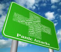 Stop Panic Represents Illness Intense And Apprehension Stock Illustration