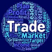 Stock Illustration of Trade Words Means Ecommerce Text And E-Commerce