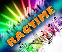 Ragtime Music Means Sound Tracks And Harmonies Stock Illustration
