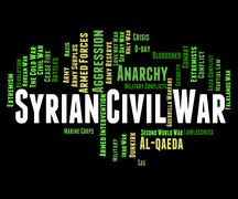 Syrian Civil War Represents Military Action And Assad Stock Illustration