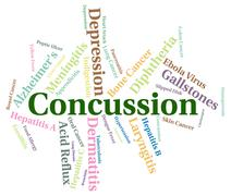 Stock Illustration of Concussion Word Means Ill Health And Ailment