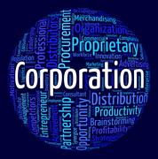 Corporation Word Represents Businessmen Wordcloud And Wordclouds Stock Illustration