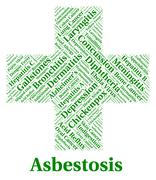 Asbestosis Illness Indicates Lung Cancer And Ailments Stock Illustration