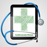 Cardiovascular Disease Means Blood Vessels And Ailments Stock Illustration