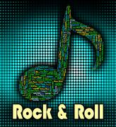 Stock Illustration of Rock And Roll Represents Sound Track And Acoustic
