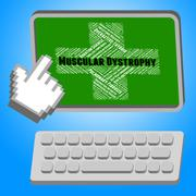 Muscular Dystrophy Shows Poor Health And Affliction Stock Illustration