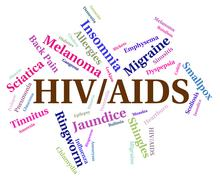 Hiv Aids Means Acquired Immunodeficiency Syndrome And Affliction Stock Illustration