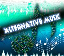 Stock Illustration of Alternative Music Indicates Sound Tracks And Acoustic