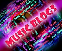 Music Blogs Shows Sound Track And Acoustic - stock illustration