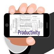 Productivity Word Means Effectivity Efficient And Text Piirros