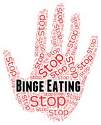 Stop Binge Eating Represents Finish Off And Abundant Stock Illustration
