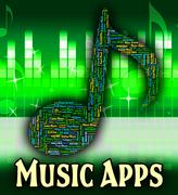 Music Apps Shows Sound Tracks And Acoustic Piirros