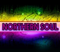 Northern Soul Shows American Gospel Music And Atlantic - stock illustration