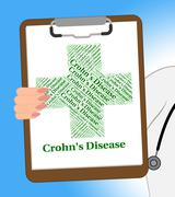 Crohn's Disease Shows Regional Enteritis And Abdominal Stock Illustration