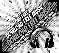 Download Free Music Means No Charge And Data Stock Illustration