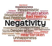 Negativity Word Represents Refuse Opposed And Refusing - stock illustration