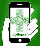 Epilepsy Illness Represents Poor Health And Affliction Stock Illustration