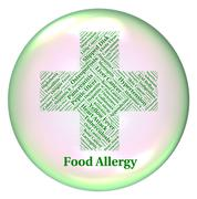 Food Allergy Indicates Hay Fever And Ailments - stock illustration
