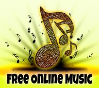 Free Online Music Represents For Nothing And Freebie Stock Illustration