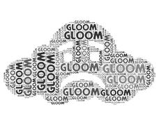 Gloom Word Indicates Wordclouds Woe And Wordcloud Stock Illustration