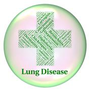 Lung Disease Means Poor Health And Affliction - stock illustration