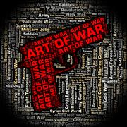 Art Of War Represents Business Strategy And Battles Stock Illustration